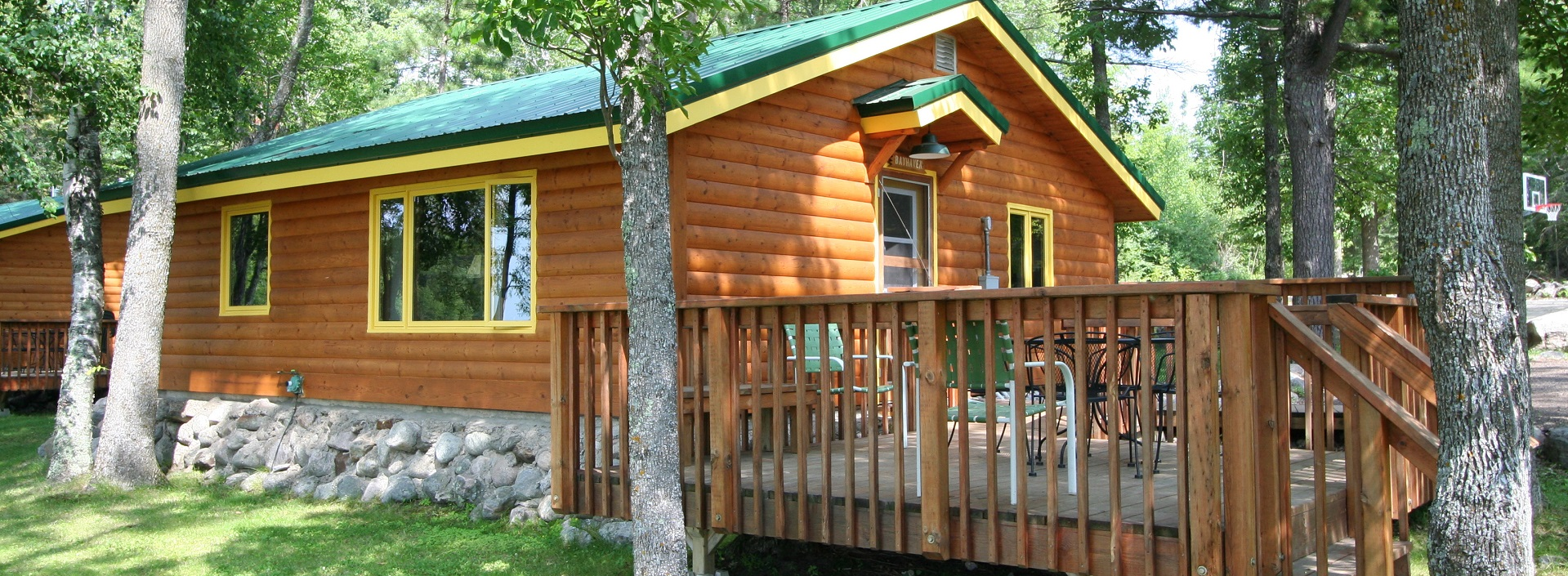 cabin with deck